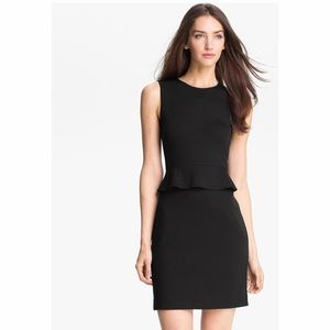 NWT Theory Dellera Peplum Black Dress